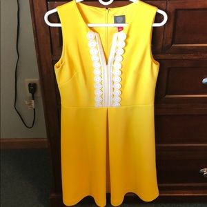 Vince Camuto Yellow A-line Dress